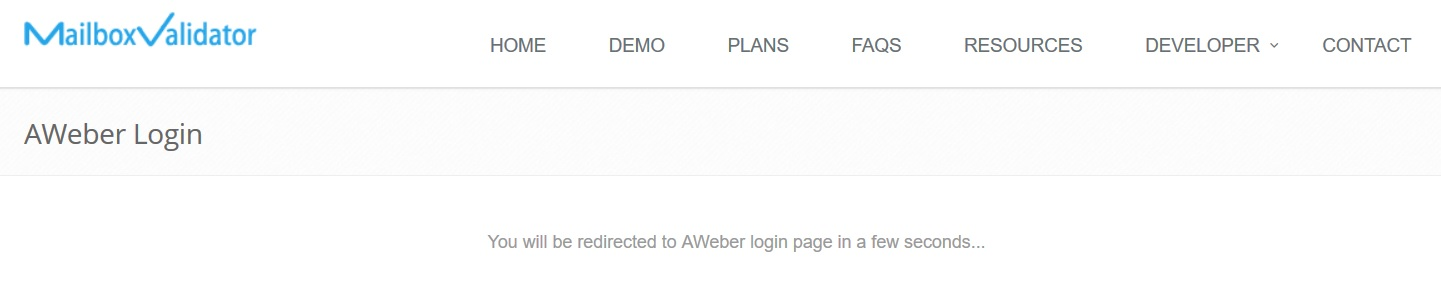Integration with Aweber