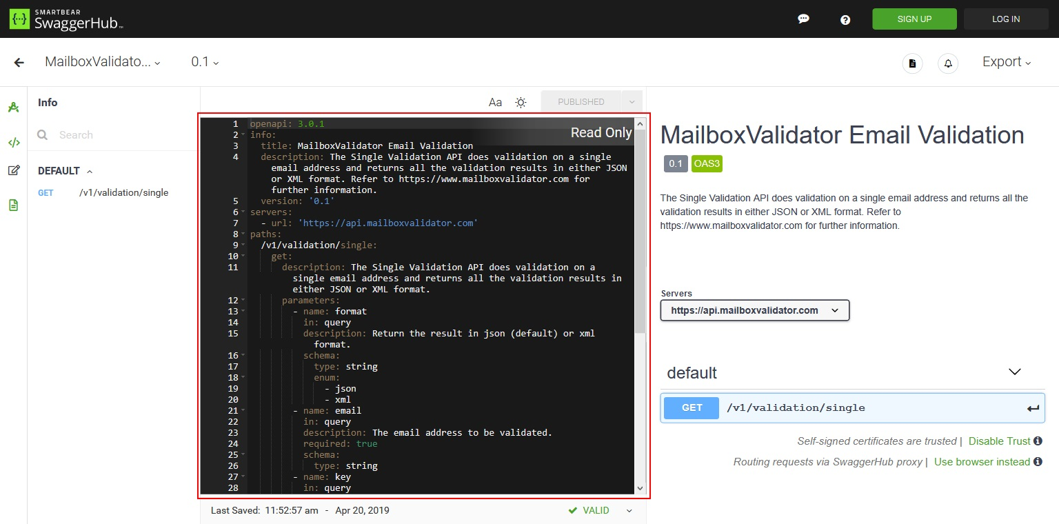 Using Postman to call MailboxValidator Email Validation API